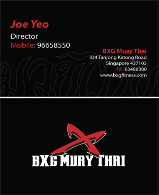 identity bxgmt business card